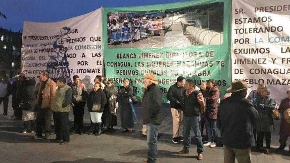 Se manifiesta Frente Mazahua con cortar el agua de Cutzamala en CDMX