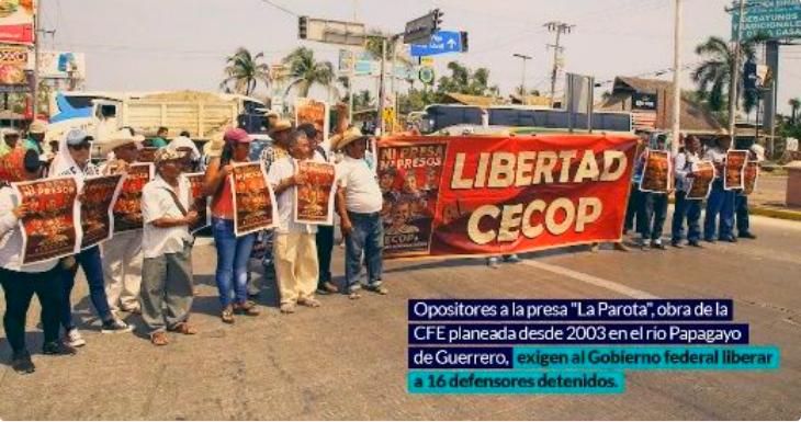 Defensores de la tierra y el agua paralizan obra (Guerrero)