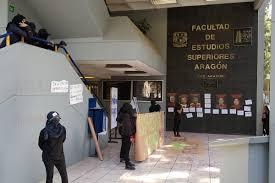 Toman instalaciones de la FES Aragón por Violencia de Género (Ciudad de México)