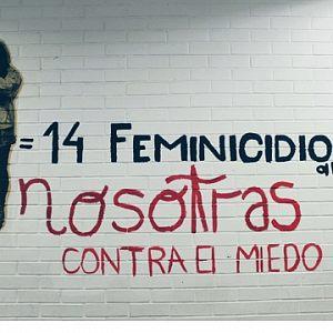 Protesta gráfica en Ciencias Políticas: las paredes se limpian, ellas no vuelven (Ciudad de México)