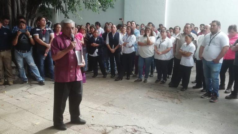 Sindicalizados de Salud se van a paro de brazos caídos en Yucatán