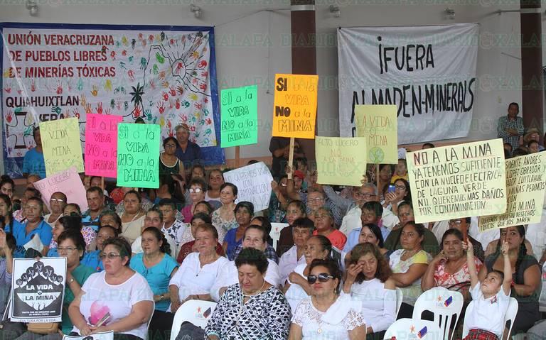 """""""No a la mina, sí a la vida""""; ambientalistas envían mensaje a subsecretario de minería  (Veracruz)"""