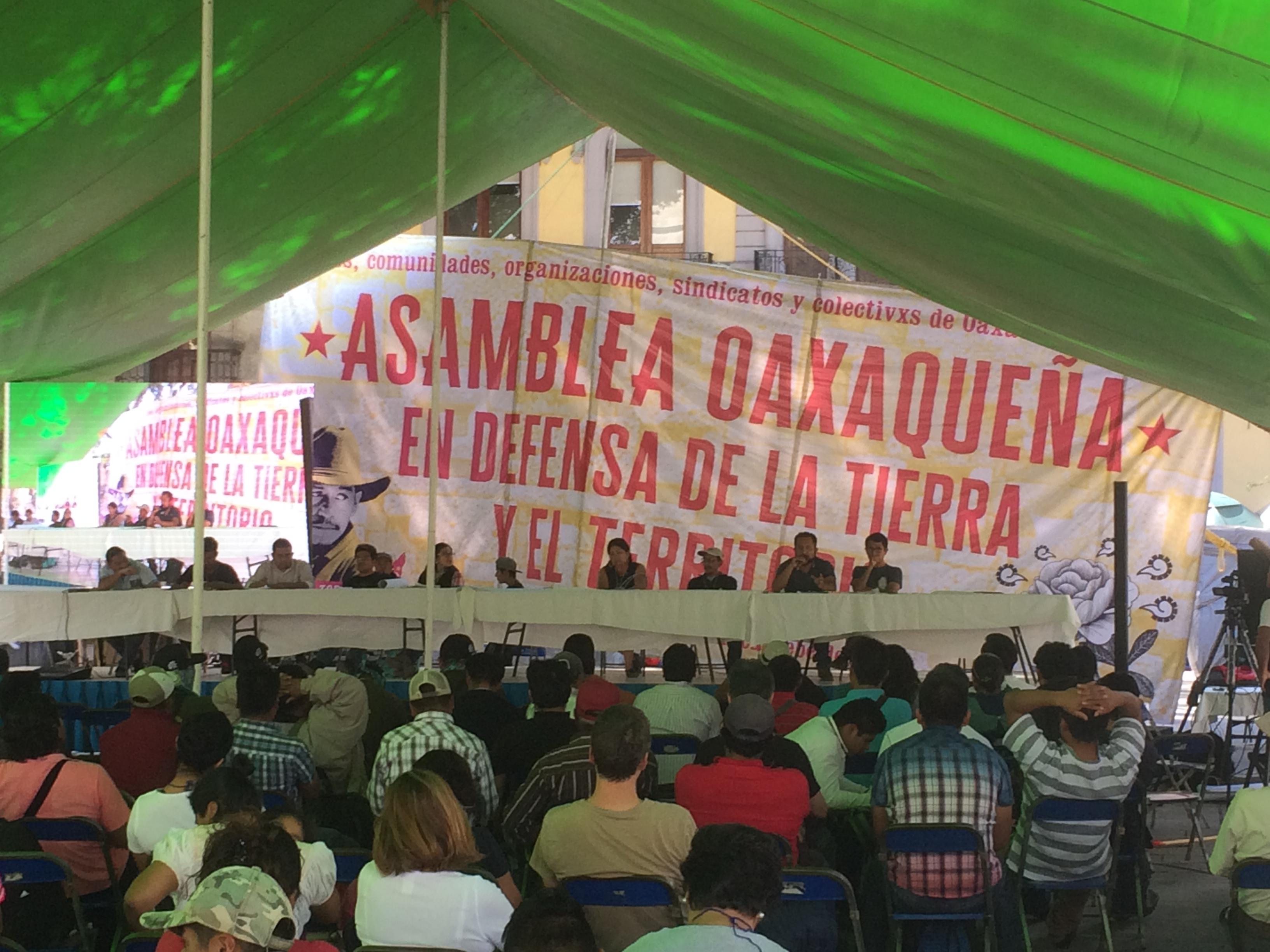 """Constituyen la Asamblea Oaxaqueña en Defensa de la Tierra y el Territorio en el marco de las Jornadas de lucha """"Samir Somos Todas y Todos"""""""