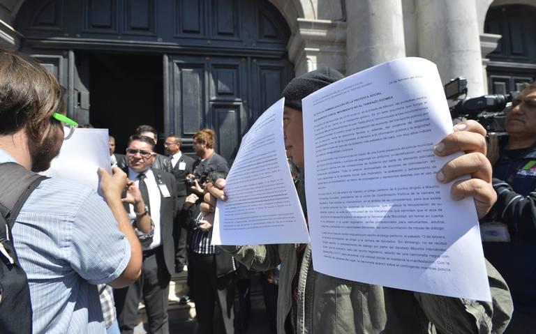 """Colectivos contra """"tarifazo"""" exigen eliminación de denuncias tras hechos del 13 de febrero (Estado de México)"""