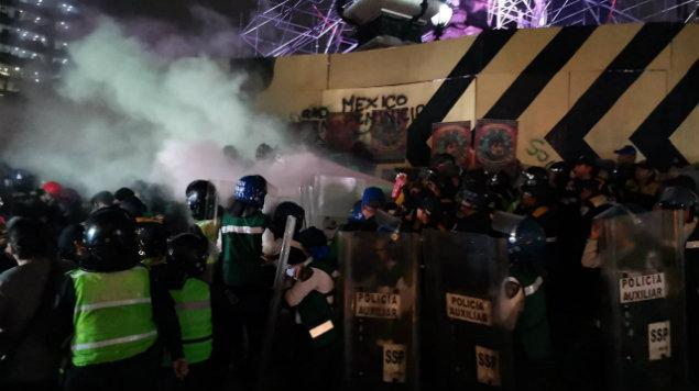 """""""Sí hubo gases""""; Marabunta denuncia violación de protocolos en marcha por Ingrid Escamilla (Ciudad de México)"""