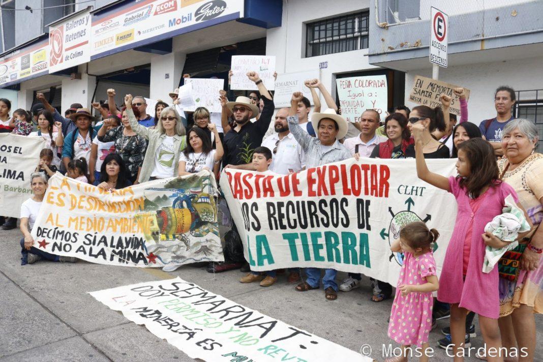 Protestan indígenas y ambientalistas de Colima contra empresa minera