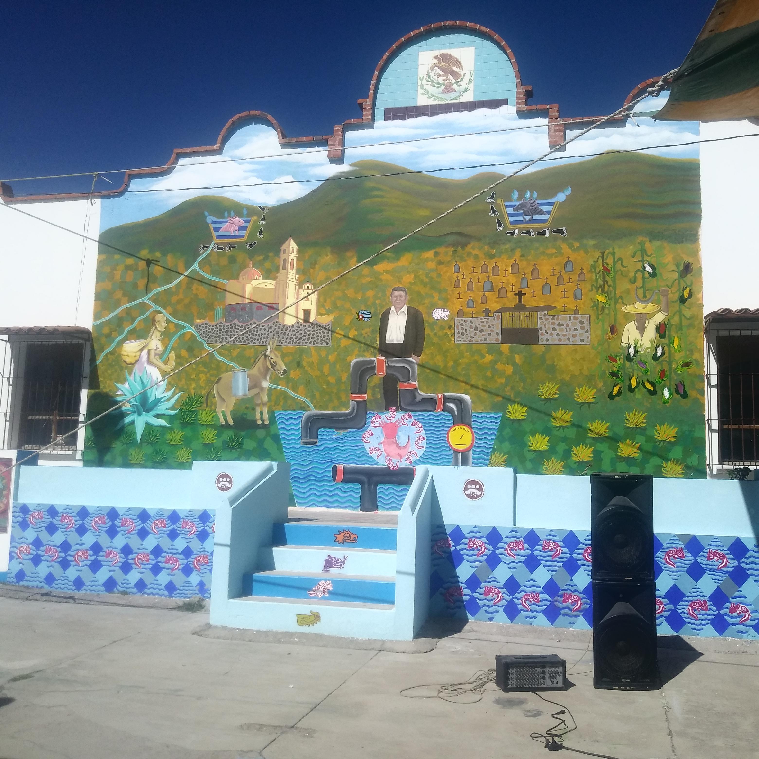 """Jornadas """"Samir Somos Todas y Todos"""", Inauguran mural por la identidad cultural y la memoria colectiva del pueblo de Santa María Ajoloapan, Tecámac, Estado de México"""