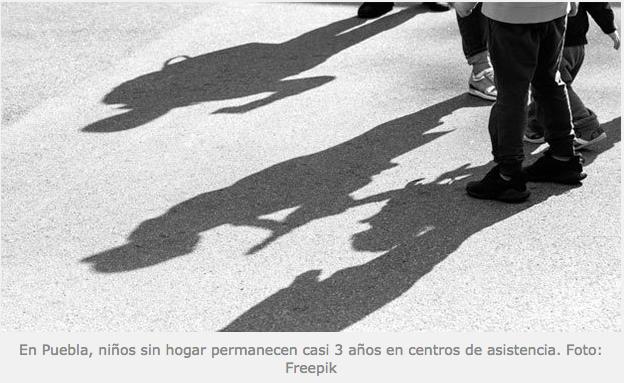 En Puebla, niños sin hogar permanecen casi 3 años en centros de asistencia