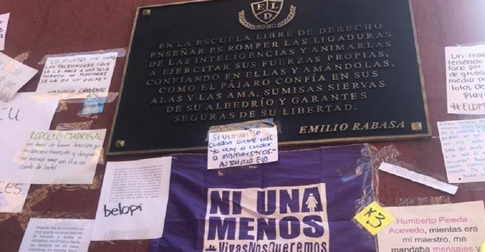 'La misoginia se sienta junto a mí': estudiantes de la Libre de Derecho protestan contra el acoso (Ciudad de México)