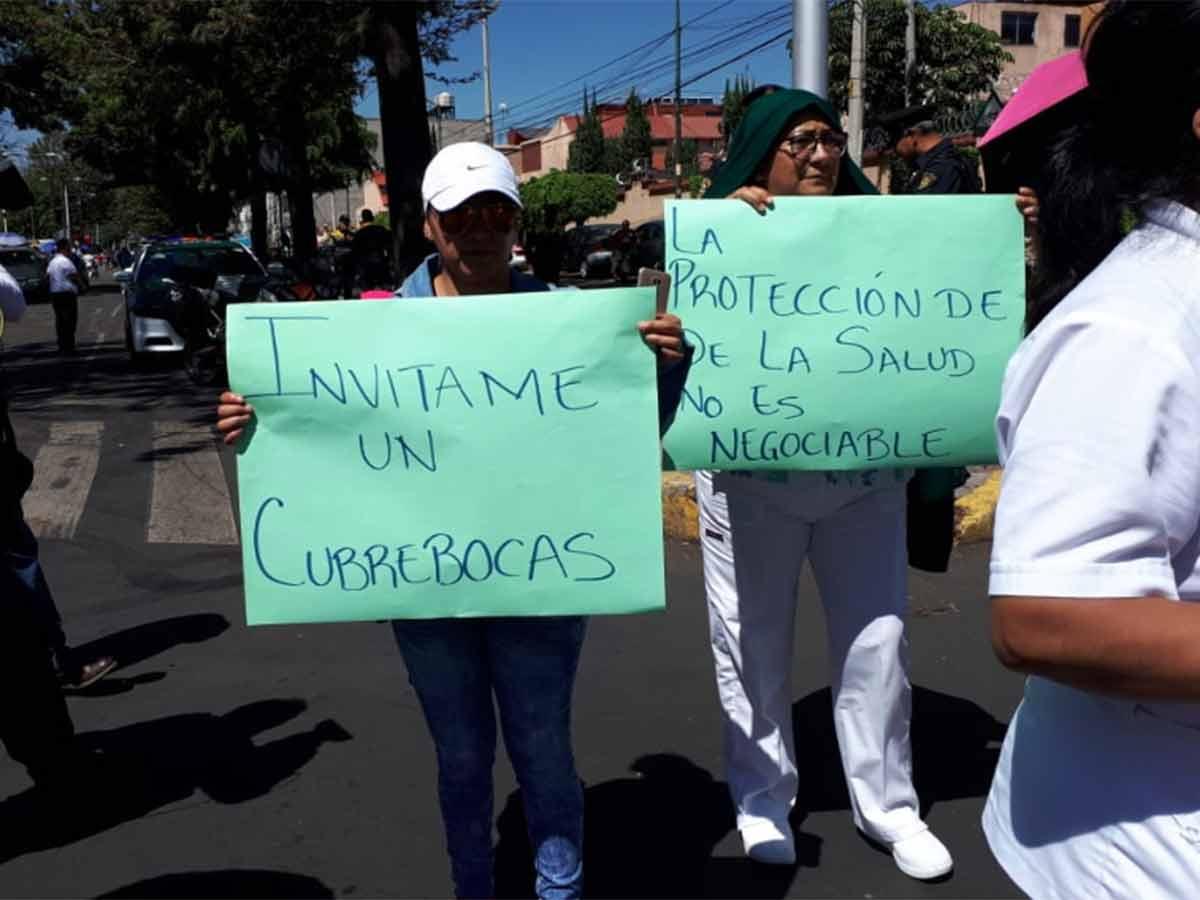 Personal del IMSS protesta por falta de insumos y protocolos ante Covid-19 (Ciudad de México)