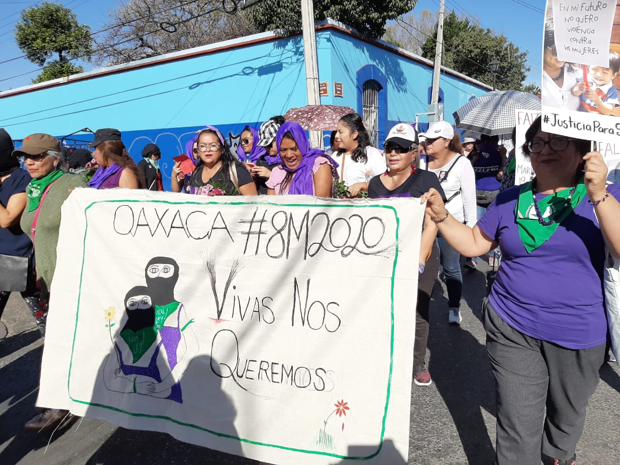 Galería fotográfica del día internacional de la mujer en Oaxaca