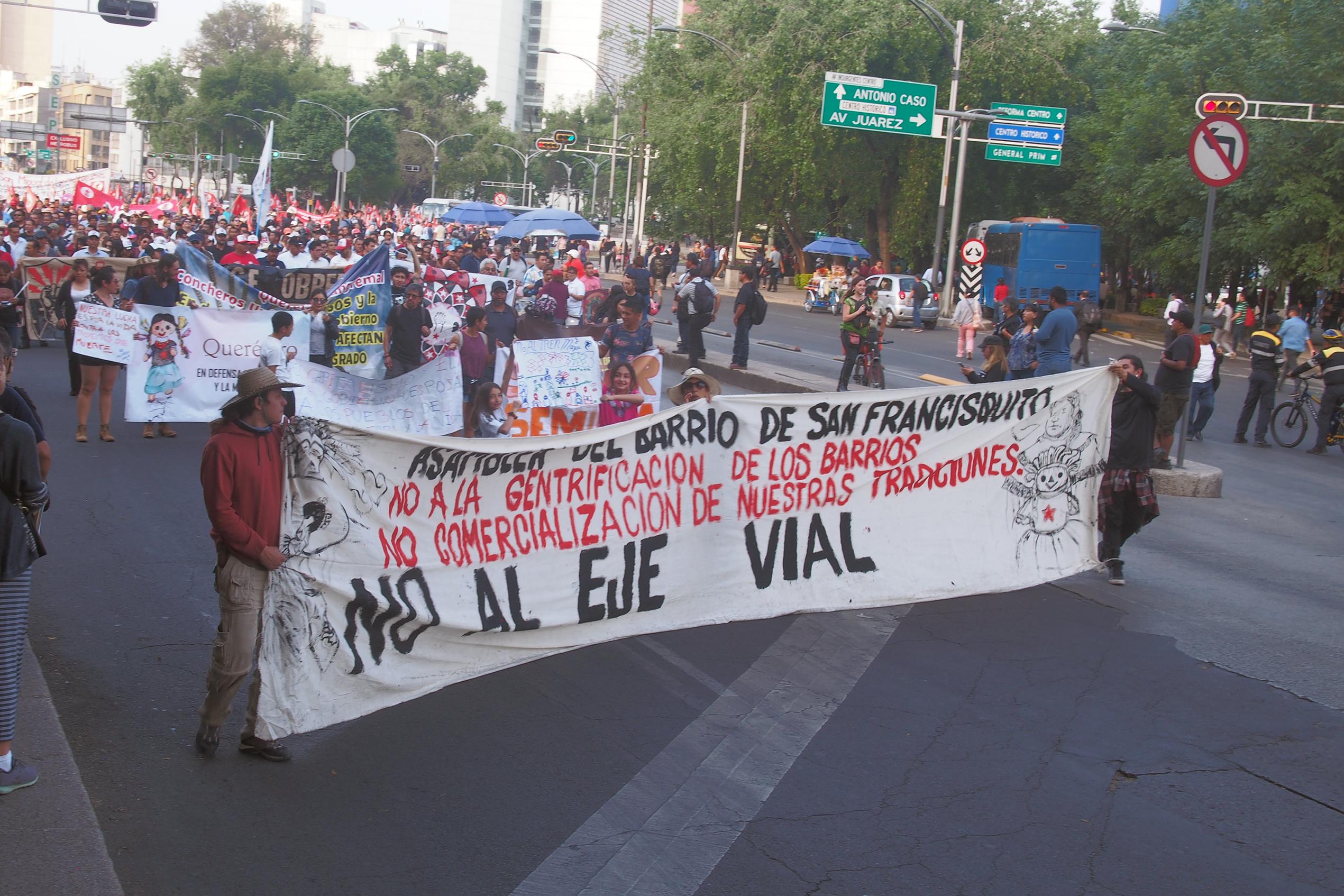 Lucha de los vecinos del Barrio de San Francisquito, Querétaro, en defensa de su territorio.