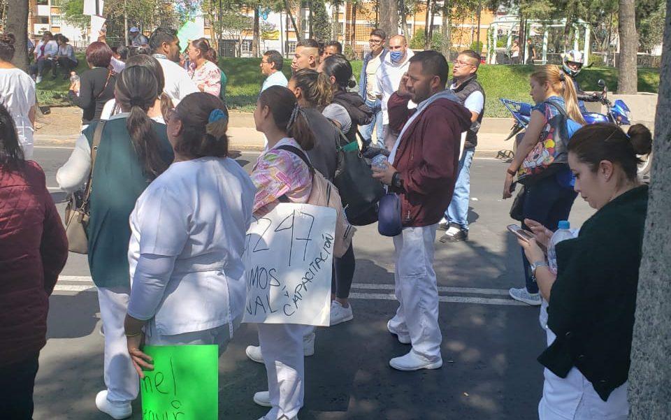 Trabajadores del Hospital General de Zona #47 del IMSS protestan por falta de insumos (Ciudad de México)