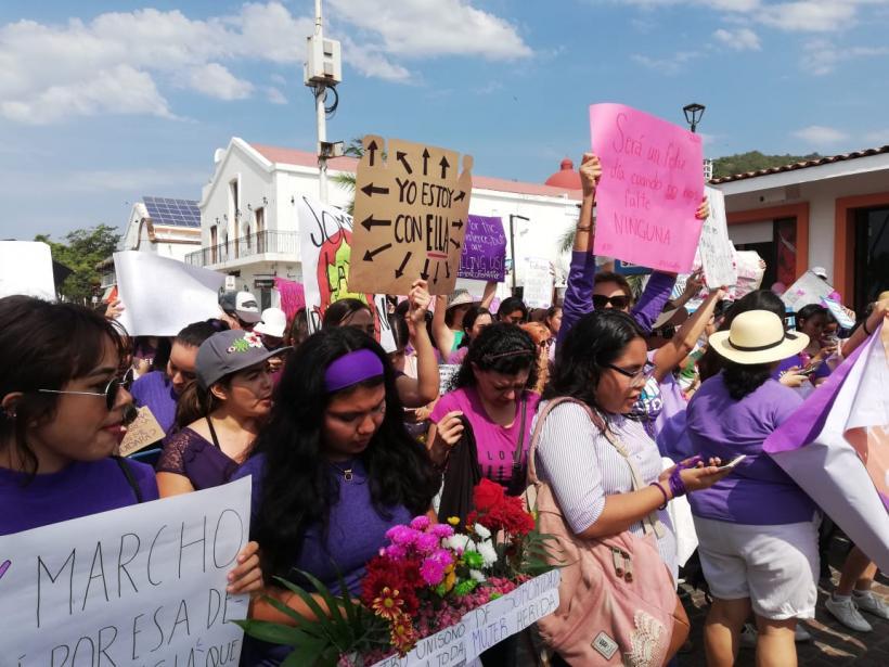 Marchan mujeres vallartenses (Jalisco)