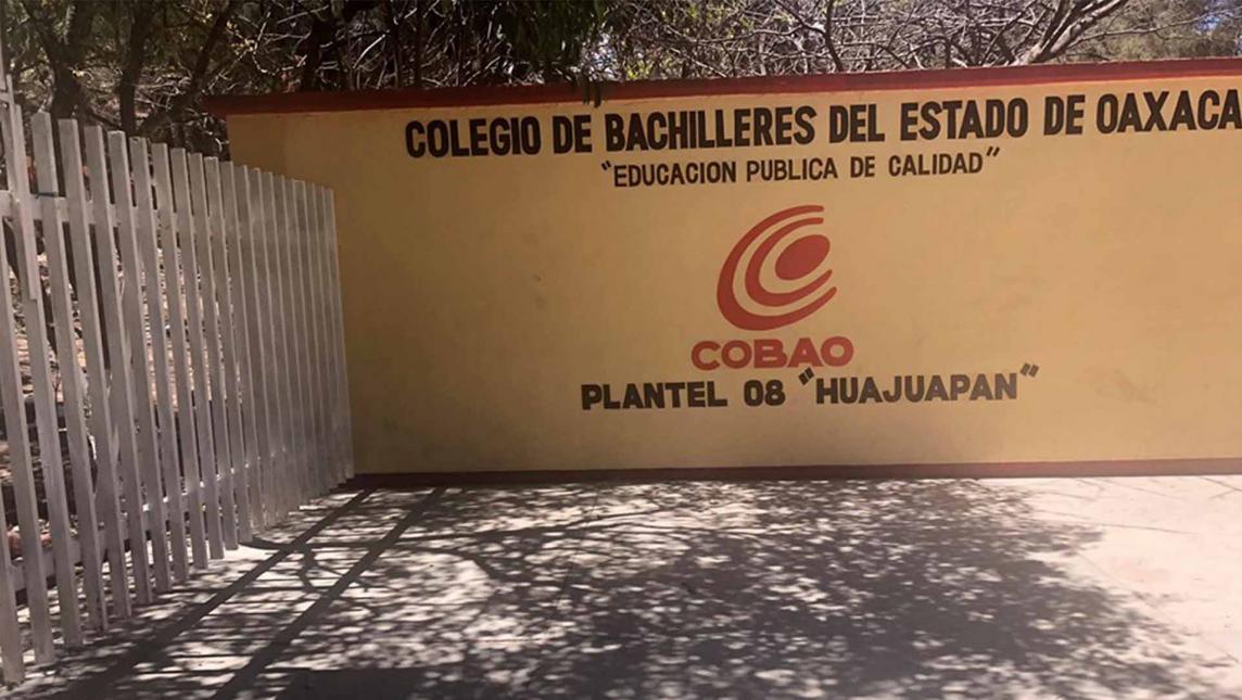 Cero tolerancia a acosadores en COBAO 08 (Oaxaca)