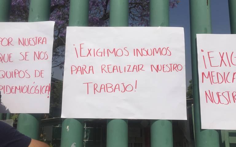 Protestan médicos de hospitales de Naucalpan, Atizapán y Coacalco por falta de insumos (Estado de México)