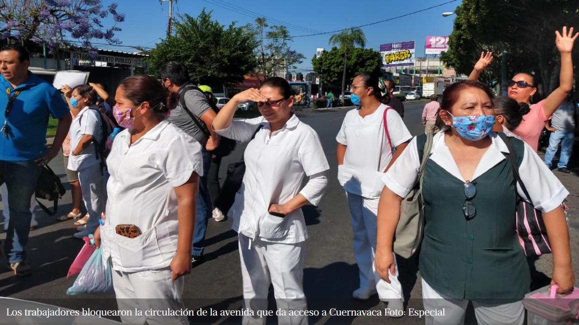 Médicos y enfermeras de IMSS en Morelos protestan por falta de protección para atender pacientes con Covid-19