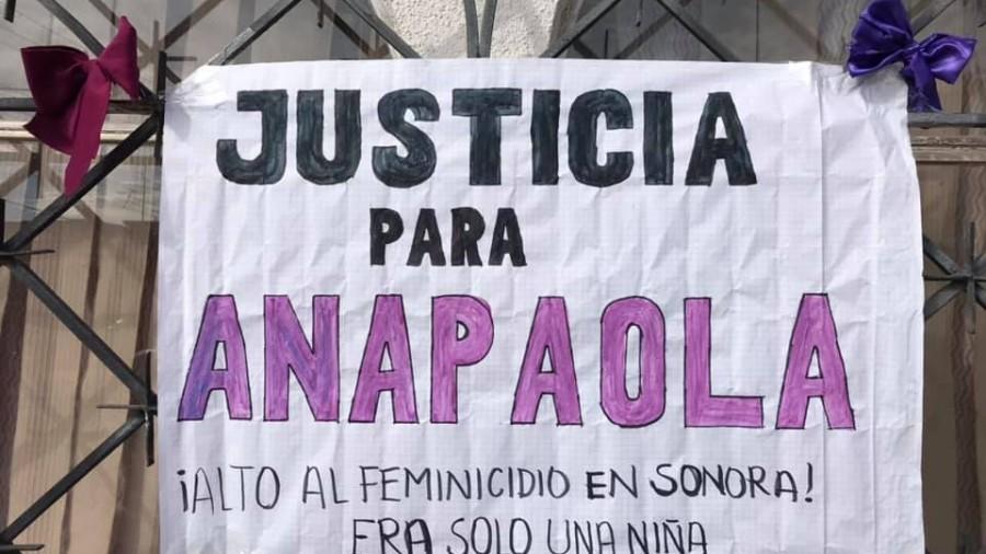 Desde casa, protestan sonorenses por feminicidio de la menor Anapaola en Nogales