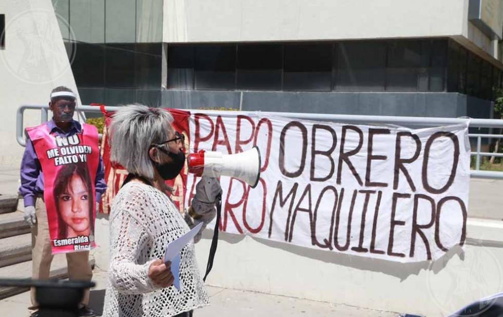 Protestan contra maquilas; exigen revelar cifra real de muertes por Covid (Ciudad Juárez)