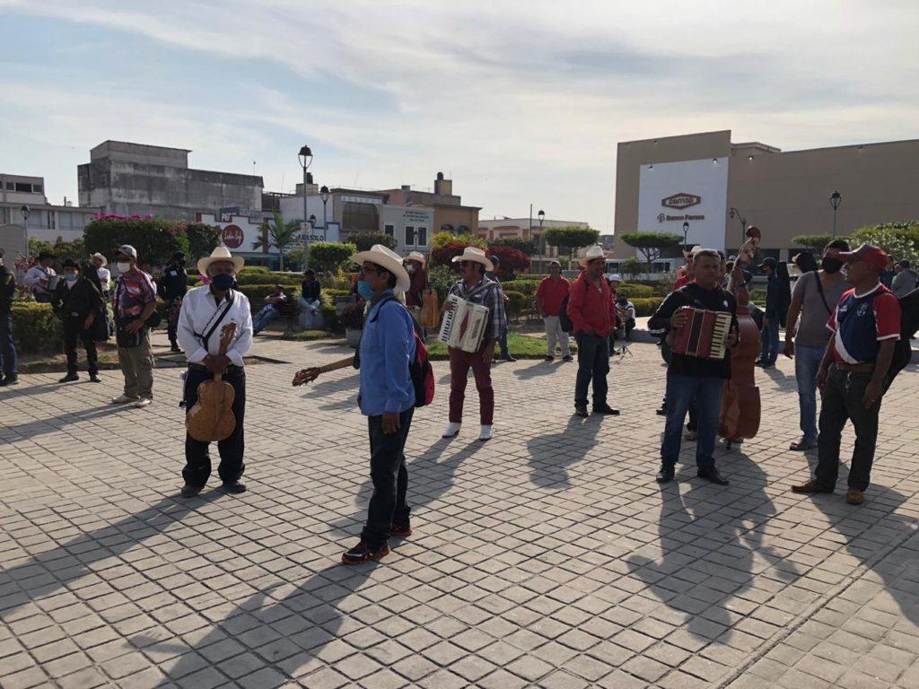 Protesta del pueblo por hambre (Nayarit)