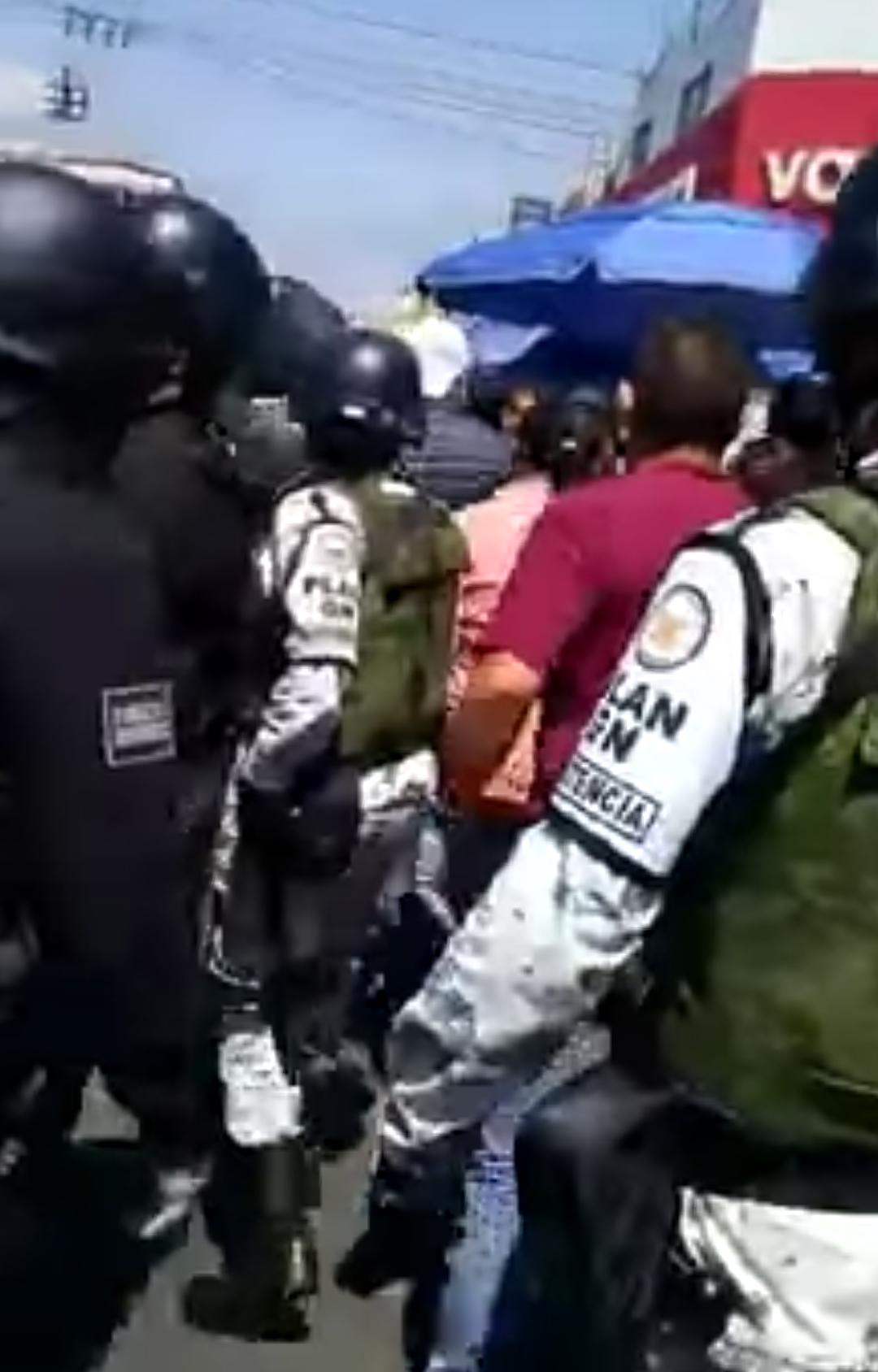 Fuerza pública usada contra la Población de Tlalnepantla. (Estado de México)