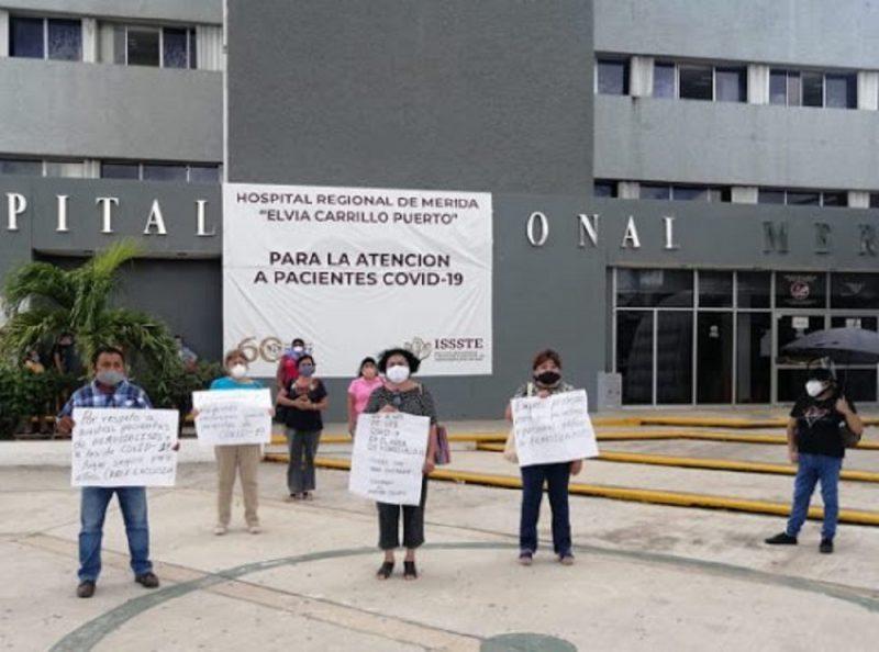 Piden reubicar a pacientes de hemodiálisis que tienen COVID-19 en el ISSSTE (Yucatán)