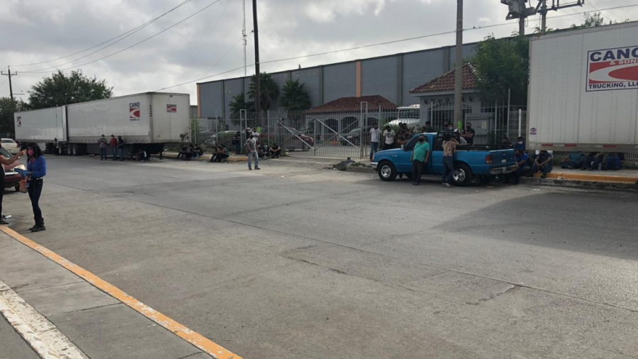 Continúan manifestaciones en maquiladora Érika (Tamaulipas)
