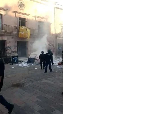 Jóvenes protestan en capital de SLP por homicidio de Giovanni López