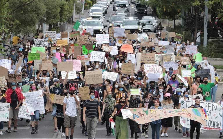 Marchan en contra del Tren Maya (Jalisco)