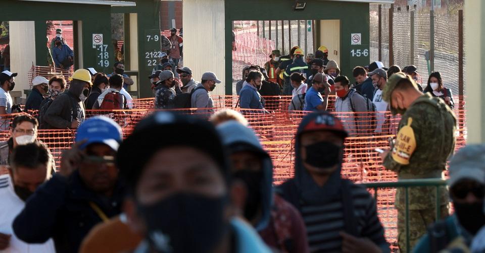 Aumentan los casos de COVID en la obra del aeropuerto de Santa Lucía (Estado de México)