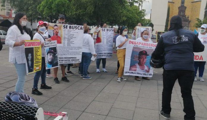 Familiares de desaparecidos se manifiestan en El Salto (Jalisco)