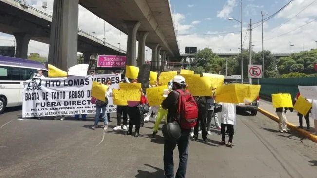 Médicos del IMSS se manifiestan; exigen equipo de protección para el COVID (Estado de México)