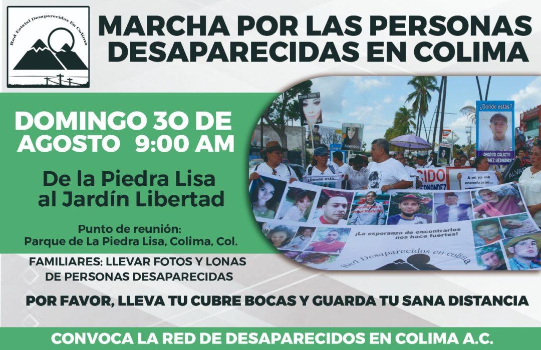 Familias de Colima marcharán por sus seres queridos desaparecidos este 30 de agosto