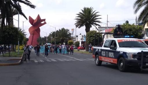 ¡Justicia para Alejandra!… Marchan feministas en Neza (Estado de México)