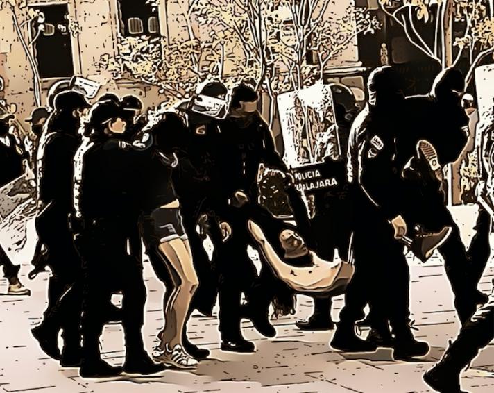 """""""Fue desaparición forzada y los juzgaron por abuso de autoridad"""", lamentan decisión del juez sobre policías señalados por los hechos de represión del 5 de junio en Jalisco"""