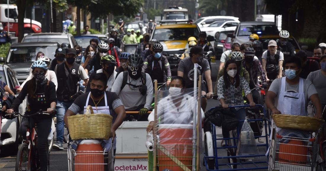 """Comerciantes de la CdMx organizan """"tricicleteada"""" contra la criminalización del trabajo informal"""