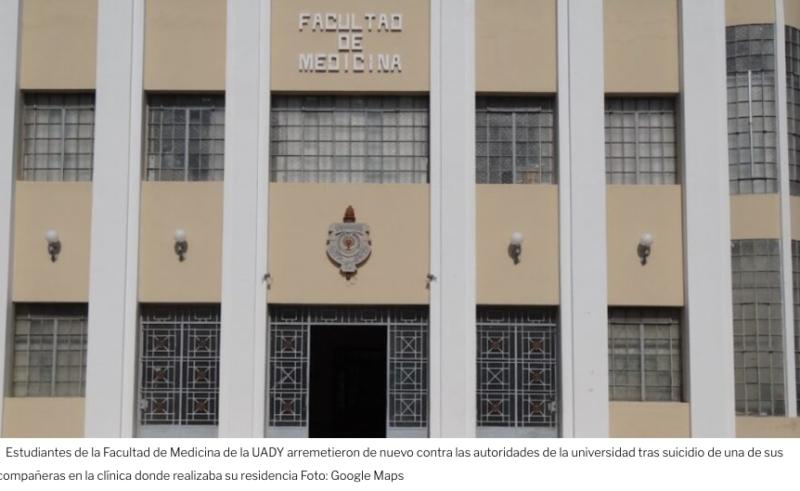Yucatán: alumnos se lanzan contra la UADY tras suicidio de pasante de medicina