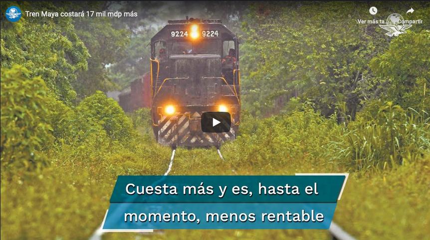 Tren Maya costará 17 mil mdp más de lo que se estimaba en enero