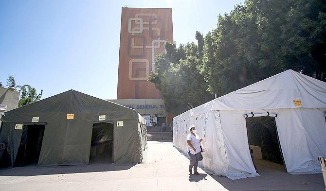 Improvisada reconversión de hospitales COVID en Baja California