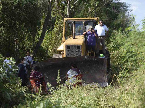 Hacen guardia para que el Tren Maya no derrumbe sus casas
