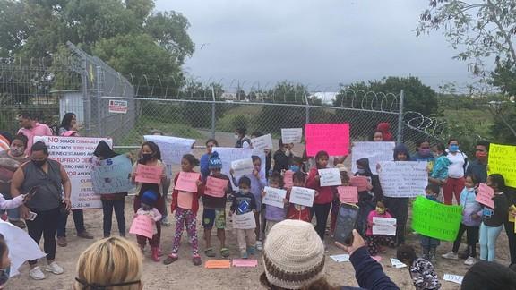 Se manifiestan migrantes contra Gobierno de Estados Unidos (Tamaulipas)