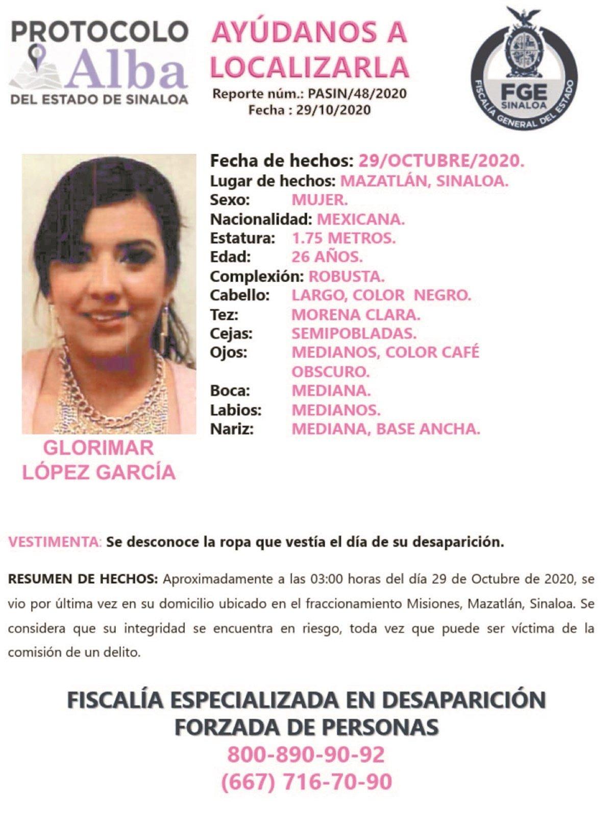 Exigen la localización de Glorimar, enfermera secuestrada en Sinaloa