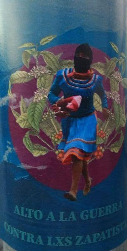 Acción en Morelia, Michoacán en repudio a los ataques paramilitares en contra de comunidades zapatistas