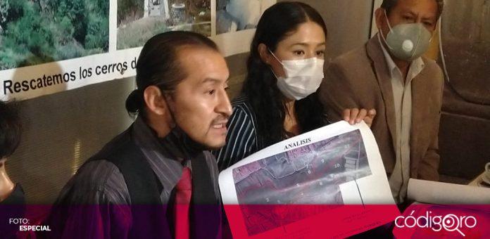 Acusan que construcción de barda daña cerros en La Cañada (Querétaro)