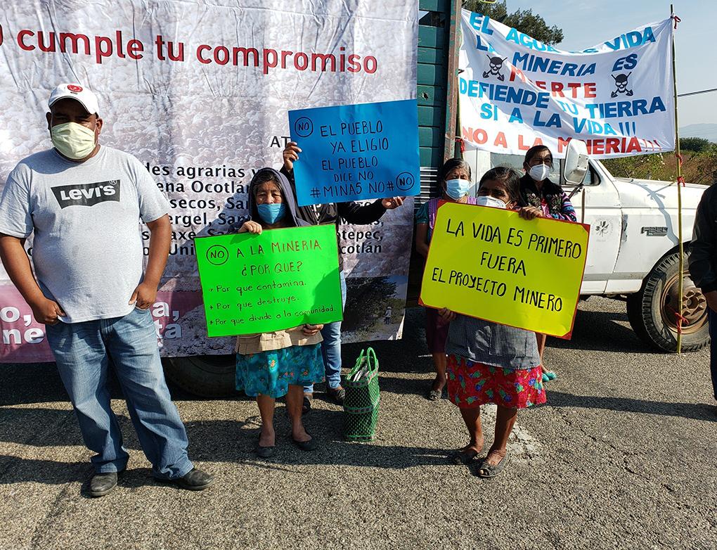 Tras bloqueo, zapotecas logran apertura de diálogo con Semanart sobre mina de Cuzcatlán (Oaxaca)