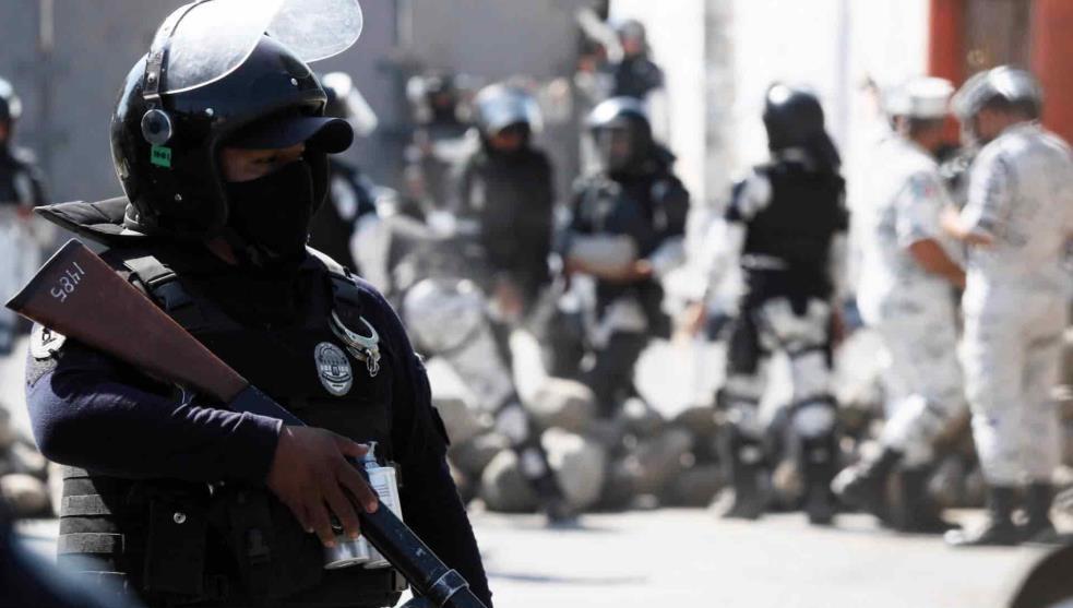 Elementos del Ejército Mexicano arriban a la termoeléctrica de Huexca