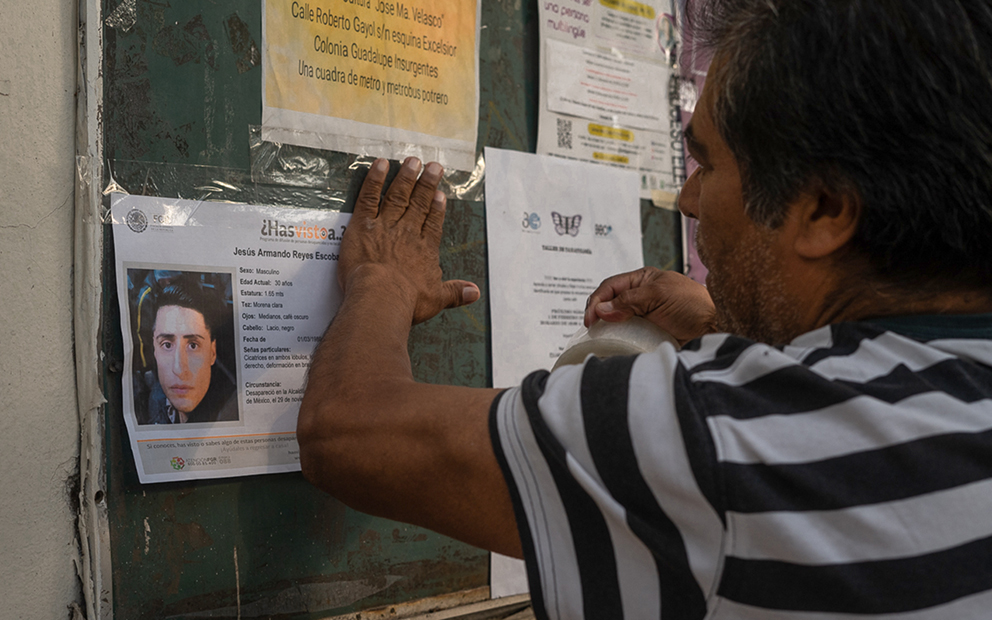 Desapariciones en CDMX: al alza e impunes