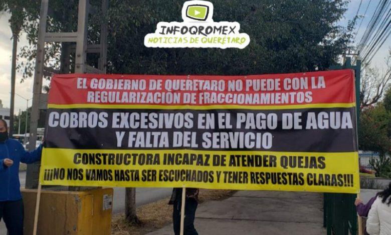 VECINOS PROTESTAN POR COBROS DE LA CEA DE HASTA 70 MIL PESOS SIN TENER SERVICIO (Querétaro)