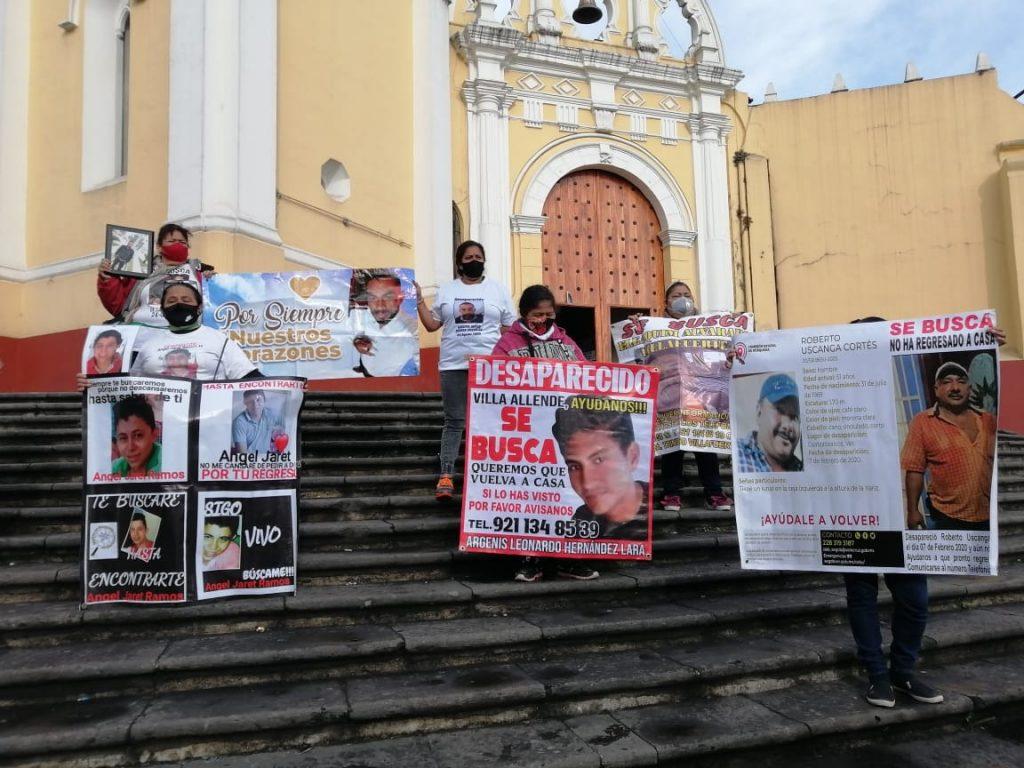 Protestan familiares de personas desaparecidas en Veracruz ante la inacción de gobierno