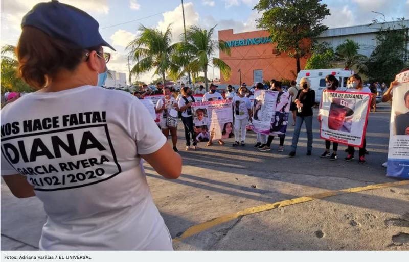 Familiares de personas desaparecidas realizan marcha pacifica en Cancún